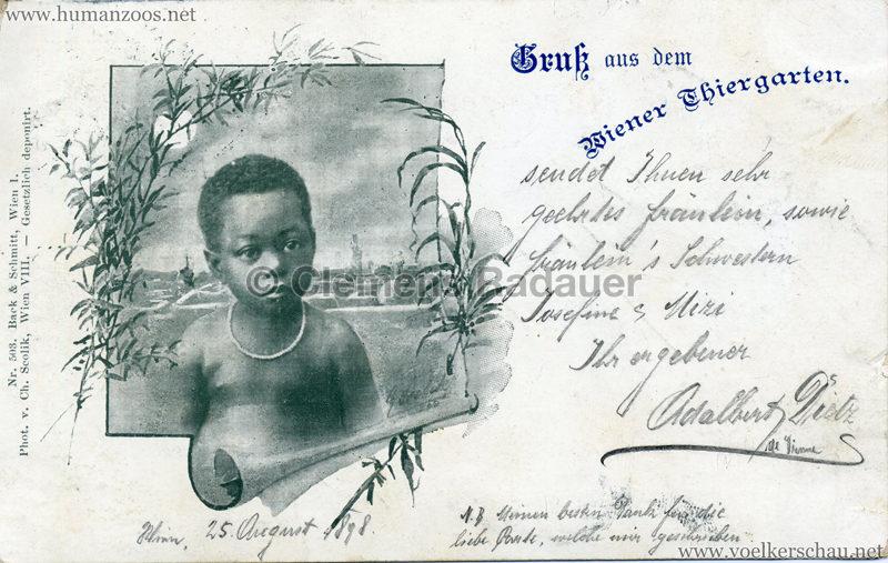 1898 Gruß aus dem Wiener Thiergarten gel. 25.08.1898