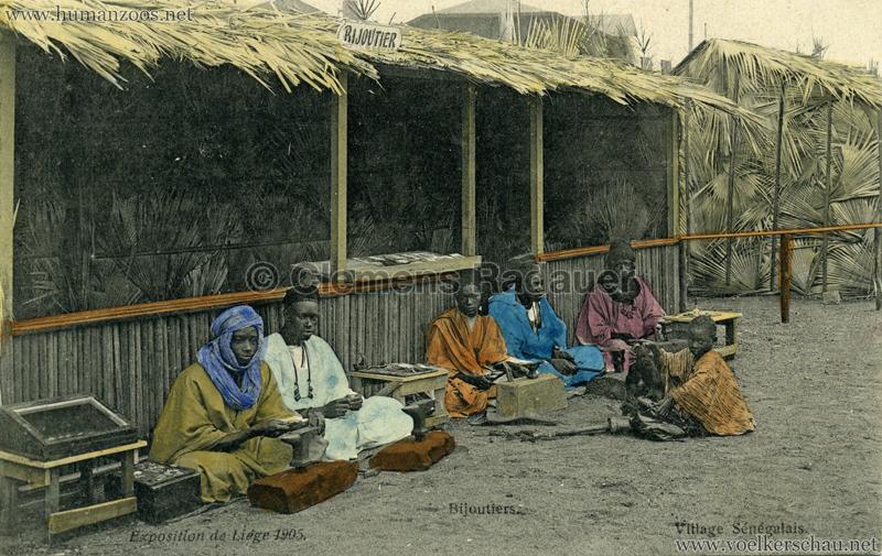 1905 Exposition de Liège - Village Sénégalais - Bijoutiers bunt