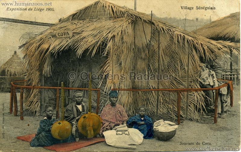 1905 Exposition de Liège - Village Sénégalais - Joueurs de Cora bunt