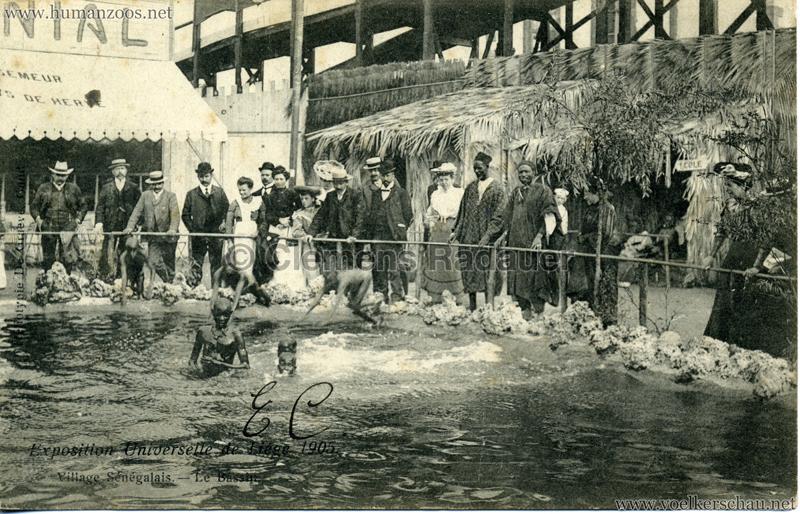 1905 Exposition de Liège - Village Sénégalais - Le Bassin