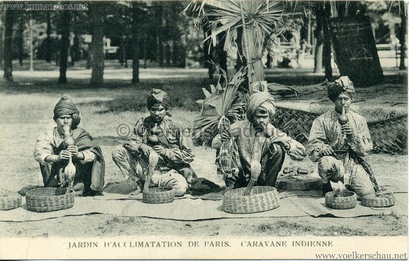 1906 Jardin d'Acclimatation - Caravane Indienne - 4 Schlangenbeschwörer