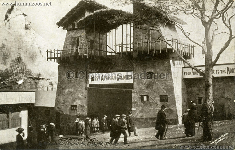 1911 The Scottish National Exhibition - West African Village