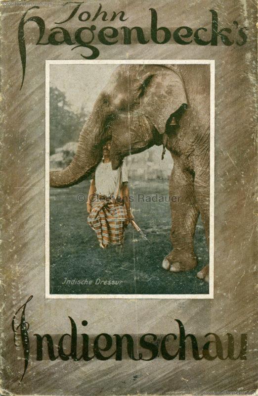 1926 John Hagenbeck's Indienschau - Programm