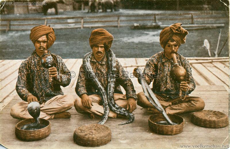 1926 John Hagenbeck's Indienschau - Schlangenbändiger VS