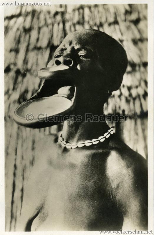 1930 Die Lippen-Negerinnen aus Central-Afrika lebend!