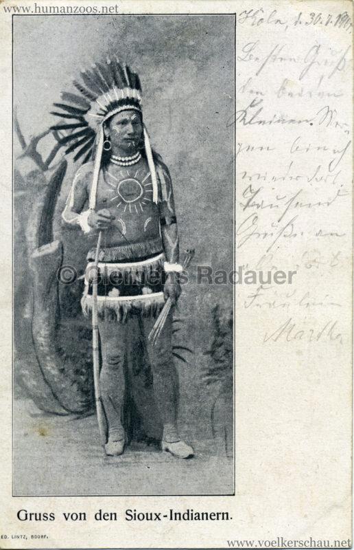 1900 Gruss von den Sioux-Indianern