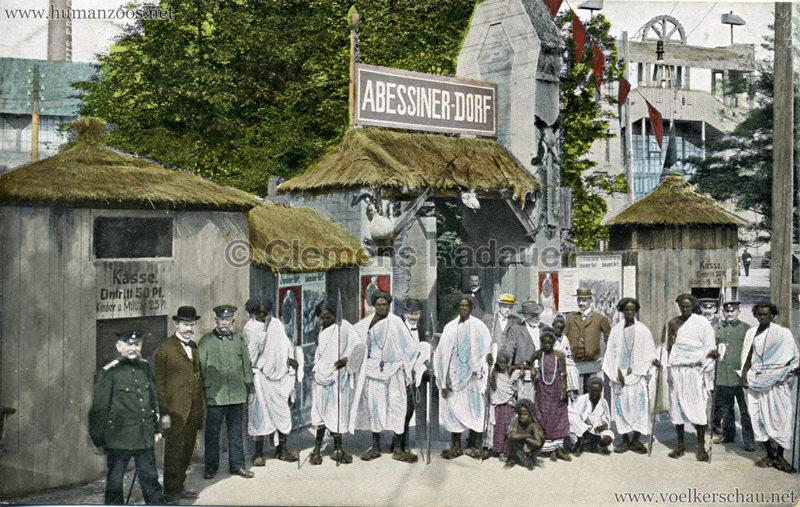 1906 Gewerbe- & Industrieausstellung Zwickau - Abessinierdorf