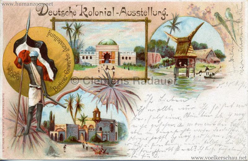Gewerbe Ausstellung Berlin 1896 - Deutsche Kolonialausstellung
