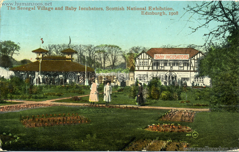 1908 Scottish National Exhibition - Senegal Village