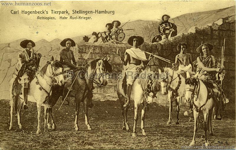1909 Hagenbeck Aethiopien - 8. Habr Auel-Krieger