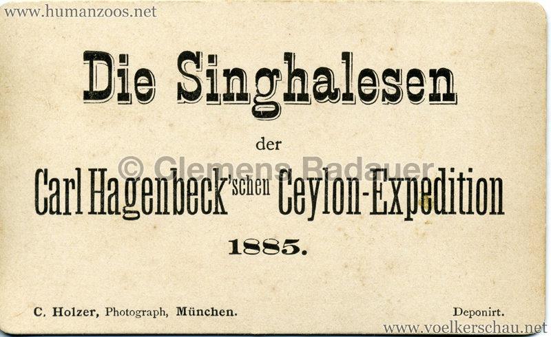 1884/1885 Die Singhalesen der Hagenbeck'schen Ceylon-Expedition RS