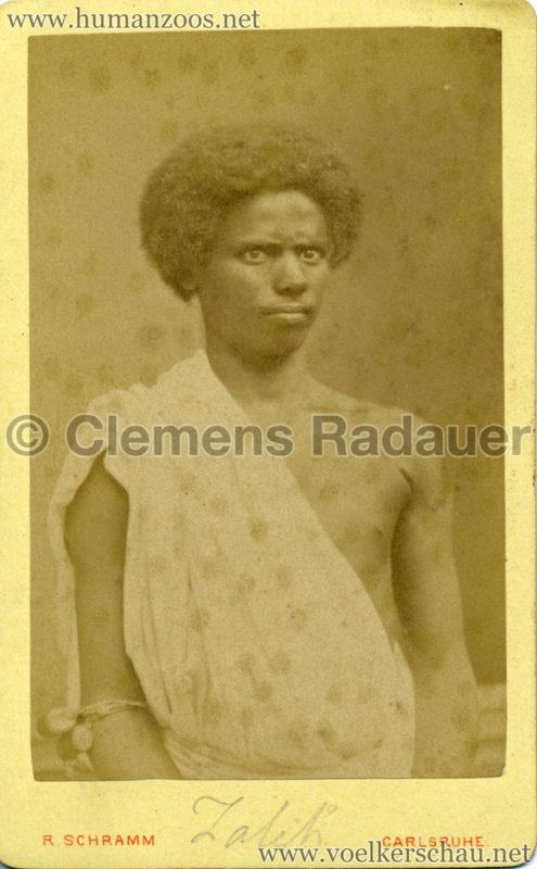 1885 (?) Hagenbeck Nubien:Somali 1