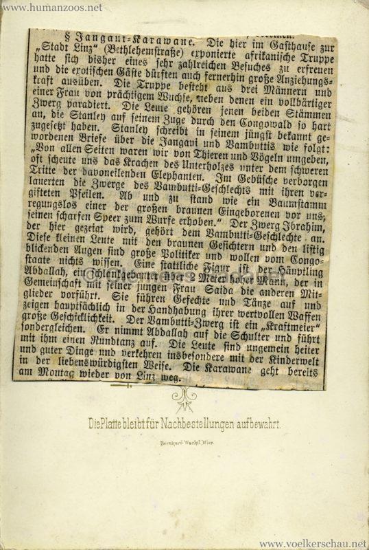 1889 Chanquoi Karawane & Bambutti-Zwerg h