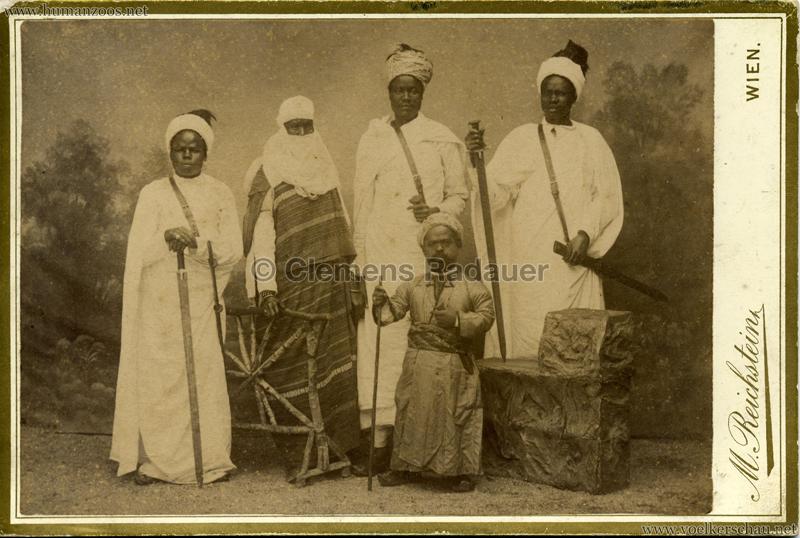 1889 Chanquoi Karawane & Bambutti-Zwerg v