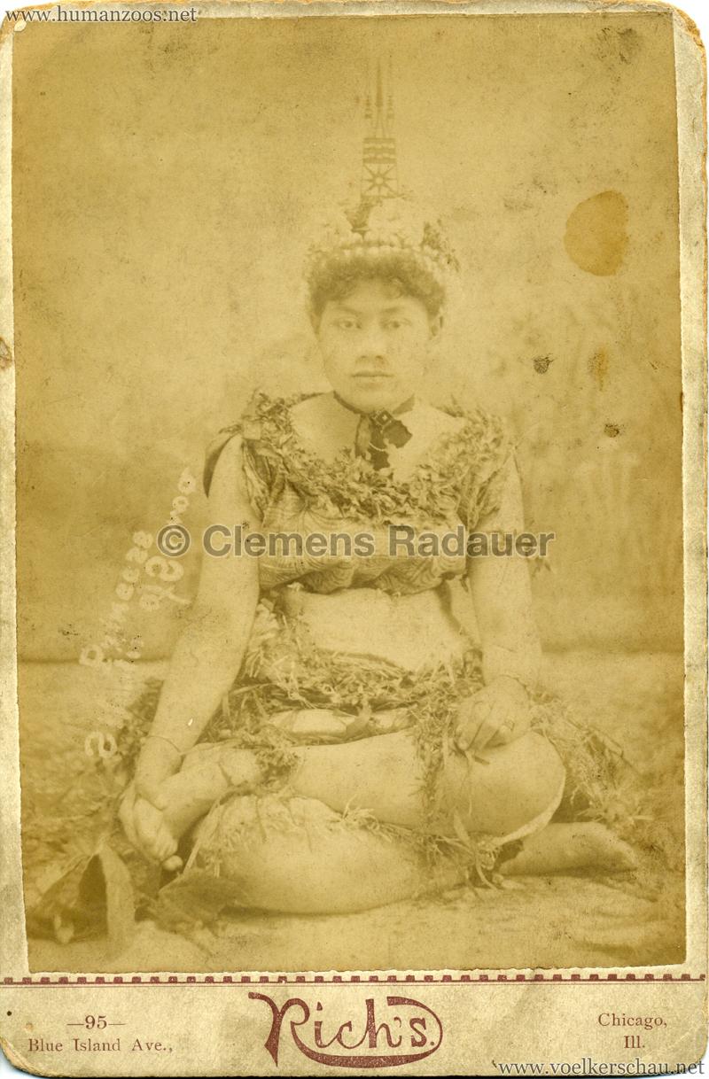 1889 Cunninghams Samoaner - Princess Silaulii 2 v