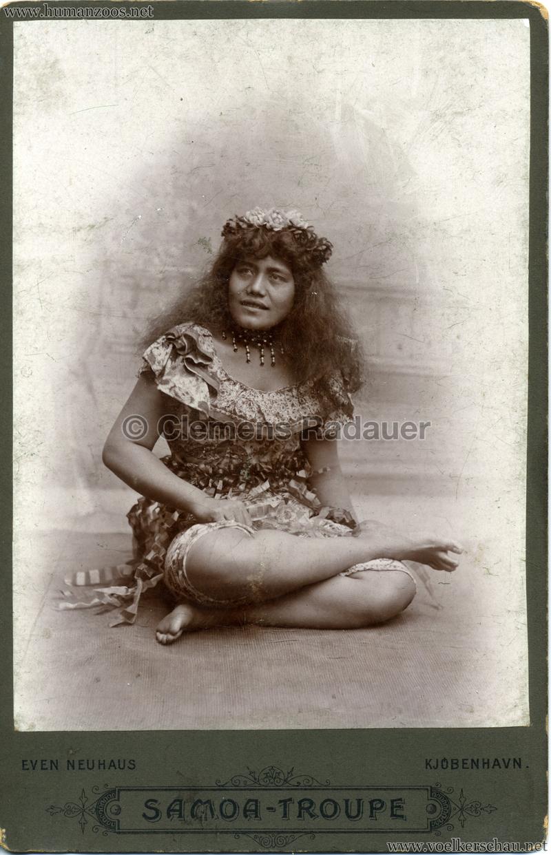 1895:1896 Samoaner-Truppe - CDV 1