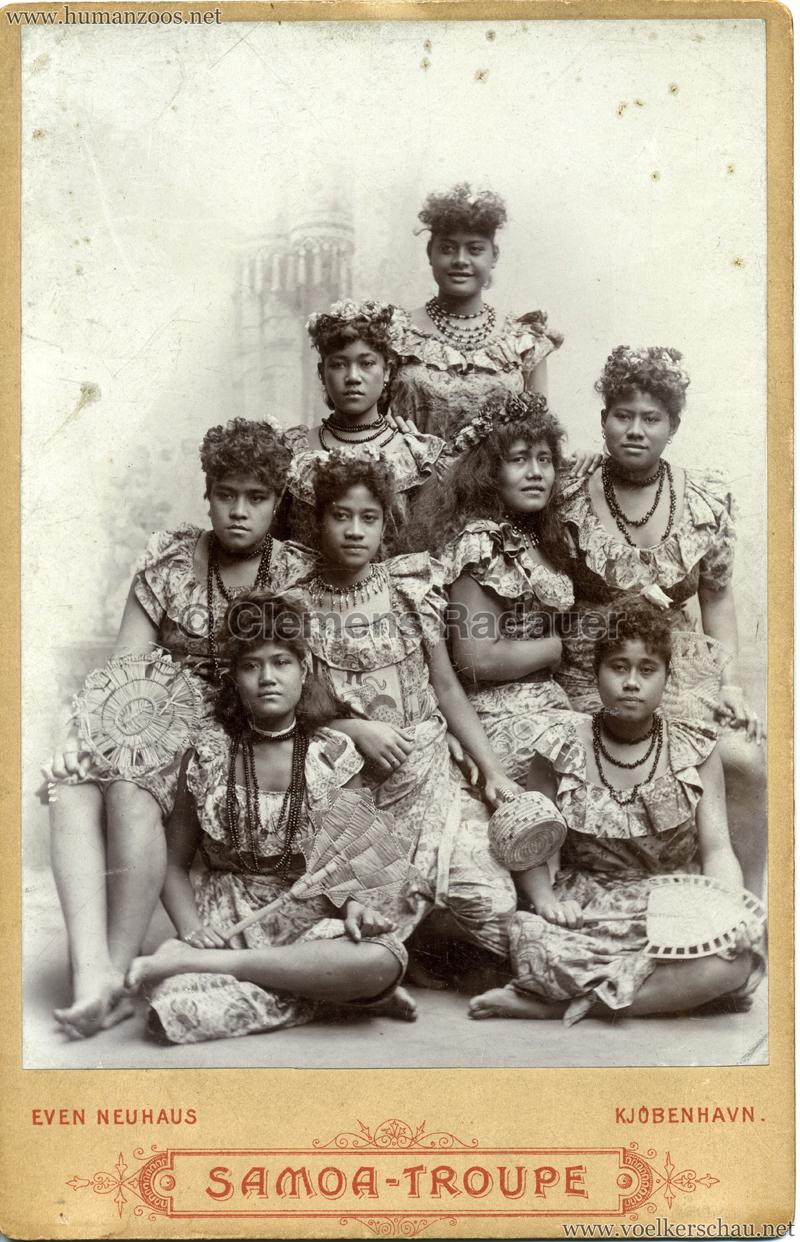 1895:1896 Samoaner-Truppe - CDV 2