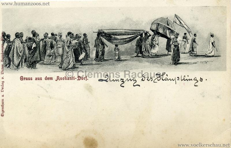 1896:1897:1898 Gruss aus dem Aschanti-Dorf - SportAusstellung München 1899 2