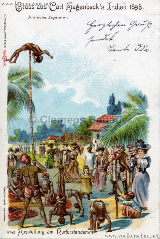 1898 Carl Hagenbeck's Indien No 42. - INdische Zigeuner