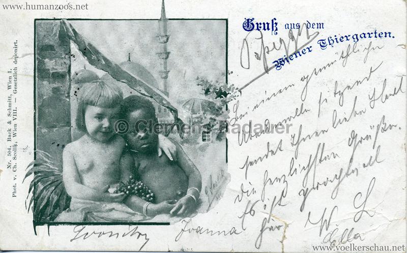 1898 Gruß aus dem Wiener Thiergarten 2 gel. 02.09.189?