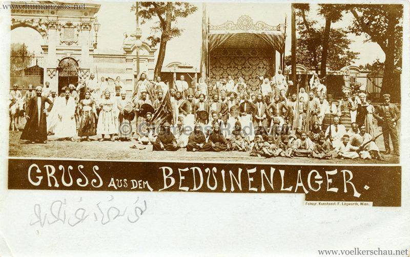 1900 Beduinenlager - Gruss aus dem Wiener Thiergarten 2