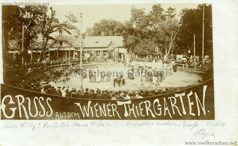 1900 Beduinen-Karawane - Gruss aus dem Wiener Thiergarten