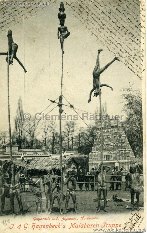 1900 J. & G. Hagenbeck's Malabaren-Truppe - Guyaratis ind. Zigeuner, Acrobaten