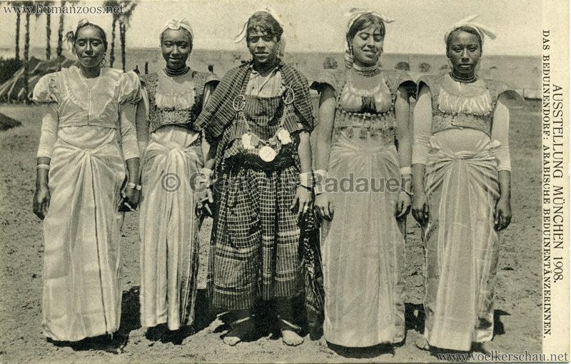1908 Ausstellung München - Das Beduinendorf - 50. Arabische Beduinentänzerinnen