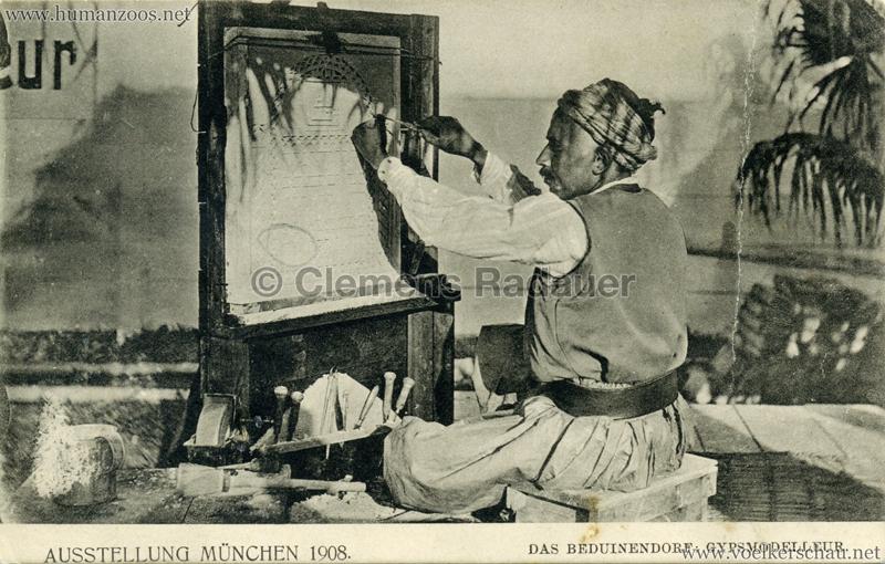 1908 Ausstellung München - Das Beduinendorf - Gypsmodelleur