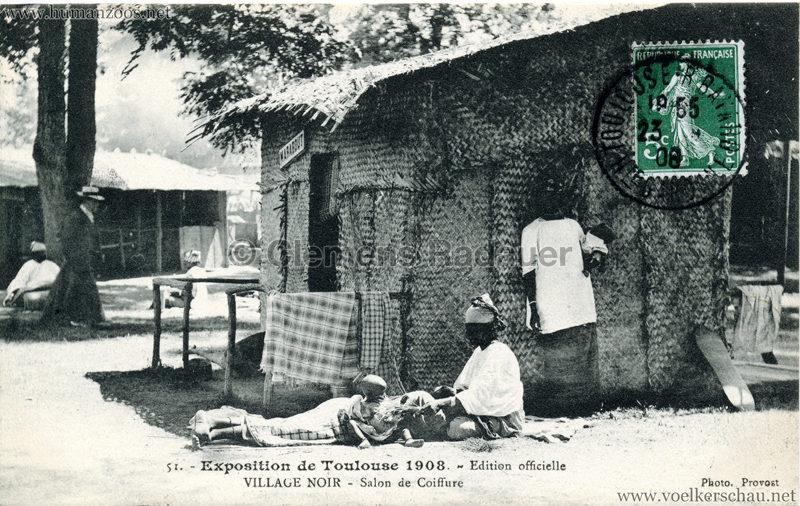 1908 Exposition de Toulouse - 51. Village Noir - Salon de Coiffure