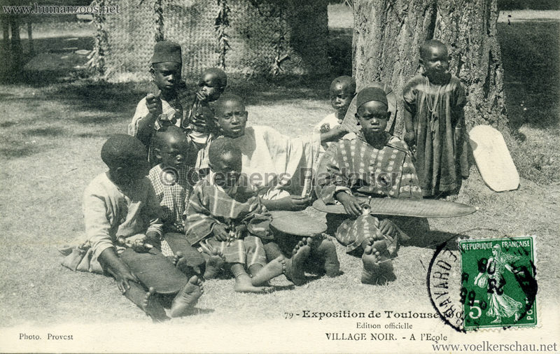 1908 Exposition de Toulouse - 79. Village Noir - à l'ecole