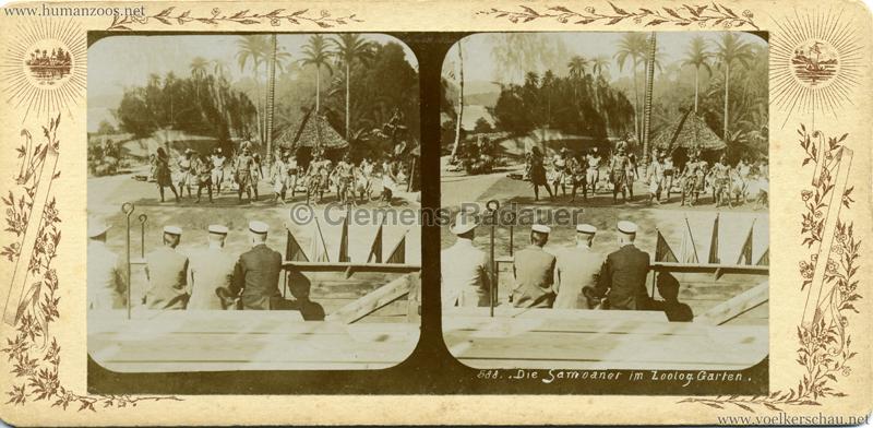 1910 588. Die Samoaner im Zoolog. Garten