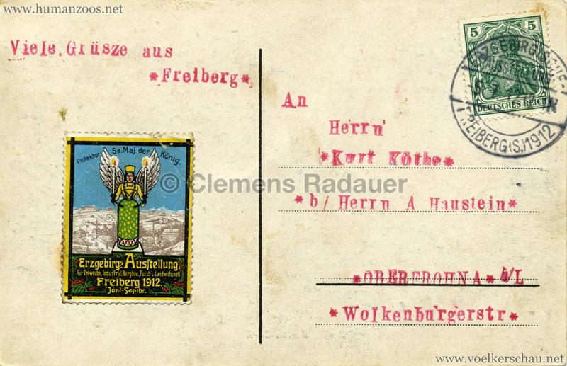 1912 Erzgebirgs Ausstellung Freiberg - Somali Dorf h