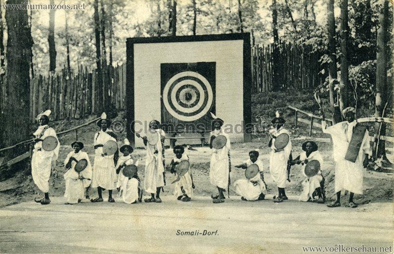 1912 Erzgebirgs Ausstellung Freiberg - Somali Dorf v