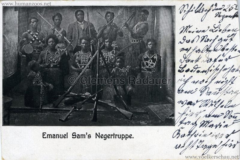 Emanuel Sam's Negertruppe gel. 1907 v