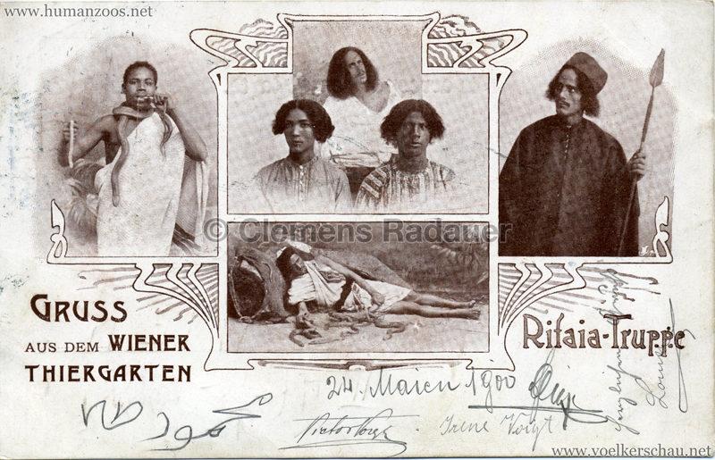 Gruss aus dem Wiener Thiergarten - Rifaia-Truppe gel. 26.03.1900 v
