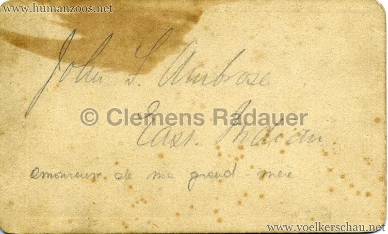 1882 (?) Hagenbeck's Singhalesen CDV 3 RS