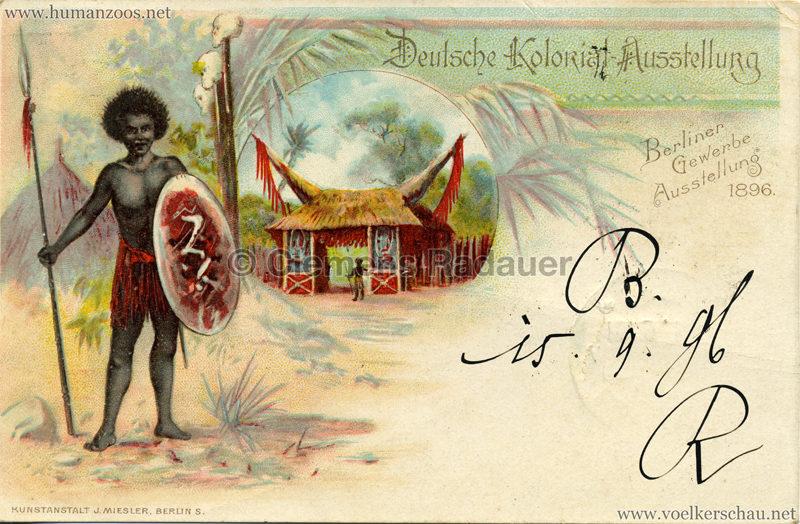 1896 Gewerbe Ausstellung Berlin 1896 - Deutsche Kolonialausstellung 2