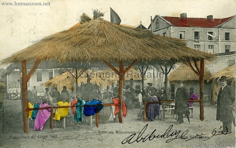 1905 Exposition de Liège - Village Sénégalais - Salle de Réjouissances bunt