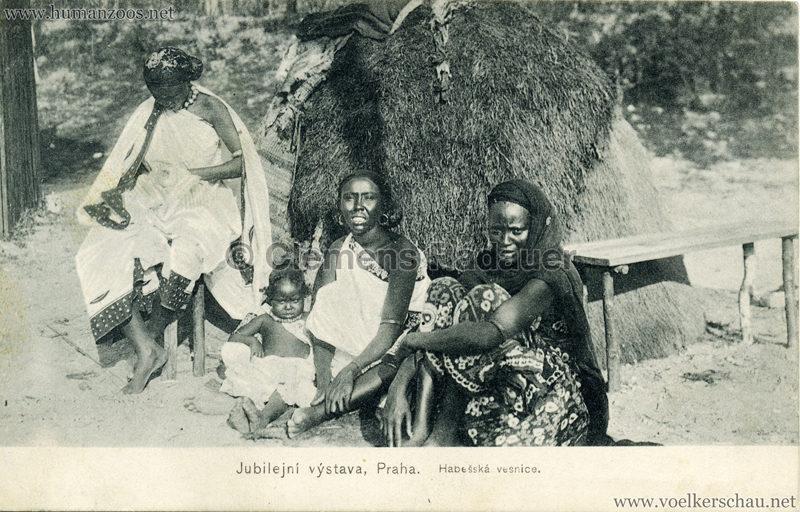1908 Jubilejni vystava Praha. Habesska vesnice 10