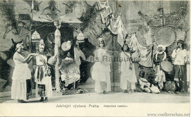 1908 Jubilejni vystava Praha. Habesska vesnice 9