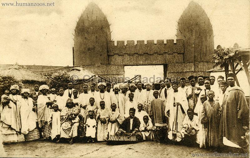 1930 Exposition d'Anvers - Village Africain - La troupe composant le village