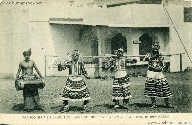 Ceylon Village & Indian Arena - 38. 3 Maskentänzer & Trommler