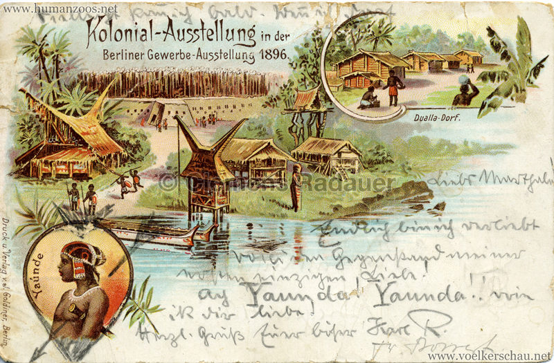 1896 Gewerbe Ausstellung Berlin - Deutsche Kolonialausstellung 3 Kopie