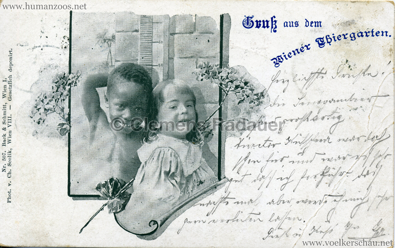1898 Gruß aus dem Wiener Thiergarten 3 gel. 01.09.1898