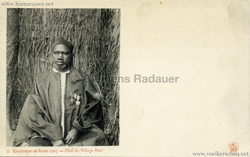 1903 Exposition de Reims - 2. Chef du Village Noir