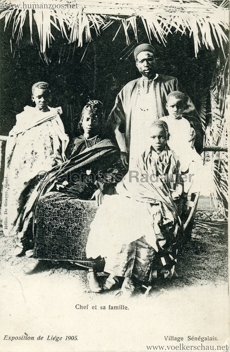 1905 Exposition de Liège - Village Sénégalais - Chef et sa famille