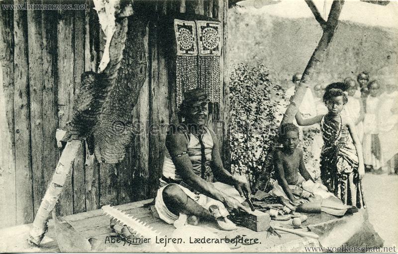 1909:1910 Abessinier Lejren - Laederarbejdere