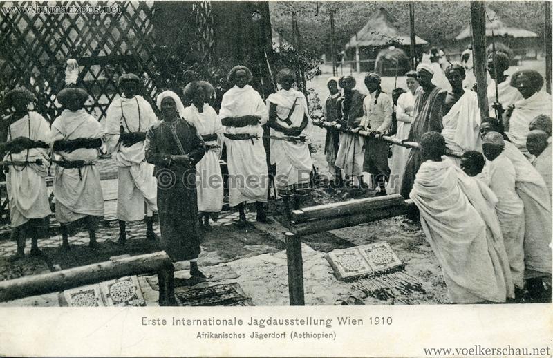 1910 Erste Internationale Jagdausstellung Wien - Afrikanisches Jägerdorf (Äthiopien) 10