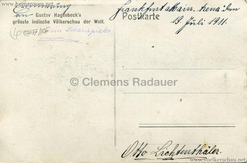 1910:1911:1912 Gustav Hagenbeck's grösste indische Völkerschau der Welt - Bambuspyramide 2 RS